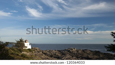 Vancouver Island - Pacific Ocean and Lucluelet lighthouse