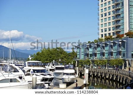 Vancouver Living - Vancouver Downtown Ocean Front. British Columbia, Canada. Canadian Cities Photography Collection.