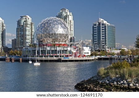 """VANCOUVER - OCTOBER 25: Science World was completed in 1985 before EXPO 86. In the summer of 2005 the name was officially changed to """"Telus World of Science."""" British Columbia, Canada,Oct. 25, 2011"""