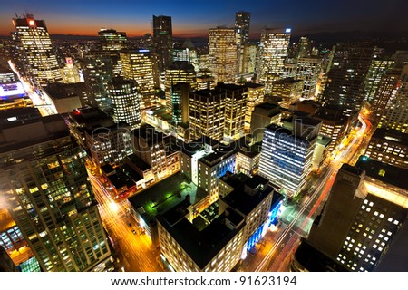Vancouver's Downtown Core - Vancouver, Canada - stock photo