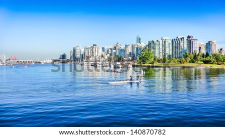 Vancouver skyline with harbor, British Columbia, Canada #140870782