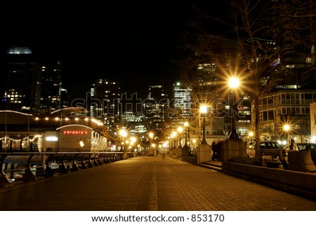 Vancouver street at Night