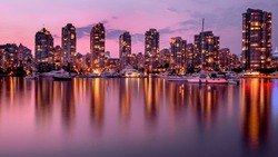 Vancouver, summer sunset