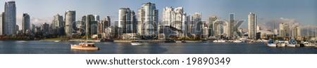 Vancouver Urban Waterfront Panorama