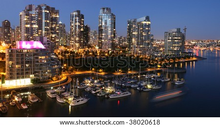 Vancouver Yaletown Waterfront - stock photo