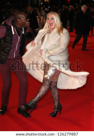 Vanessa Feltz and husband Ben arriving for the 'I Give It A Year' premiere, at the Vue Leicester Square, London. 24/01/2013 Picture by: Alexandra Glen - stock photo