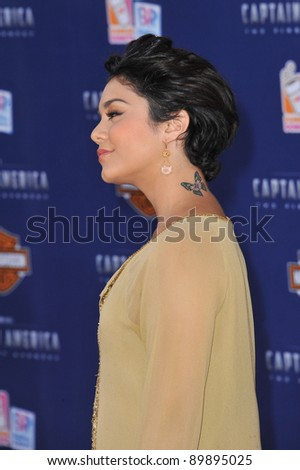 """Vanessa Hudgens at the premiere of """"Captain America: The First Avenger"""" at the El Capitan Theatre, Hollywood. July 19, 2011  Los Angeles, CA Picture: Paul Smith / Featureflash"""