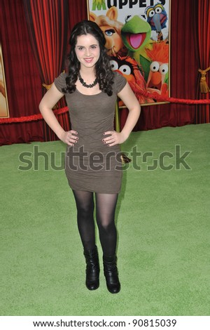 "Vanessa Marano at the world premiere of ""The Muppets"" at the El Capitan Theatre, Hollywood. November 12, 2011  Los Angeles, CA Picture: Paul Smith / Featureflash"