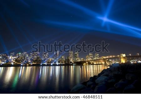 Vanier vectorial light show - Vancouver, Canada