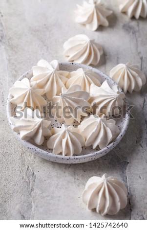 Vanilla homemade meringue a plate Сток-фото ©