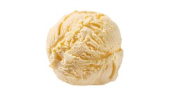 vanilla ice cream isolated on white background