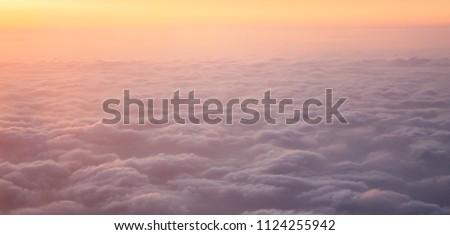 Vanilla sky, sky landscape background, vacation time, travel the world #1124255942