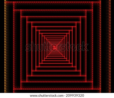 Vanishing point abstract fractal background