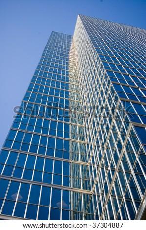 vanishing point building glass background