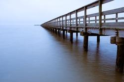 Vanishing Point Fishing Pier at Dawn