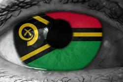 Vanuatu flag in the eye