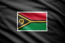 Vanuatu flag isolated on black jersey. National symbols of Vanuatu.