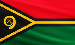 Vanuatu flag with fabric texture
