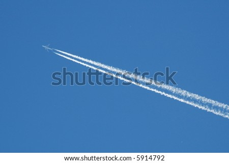 vapor from a plane