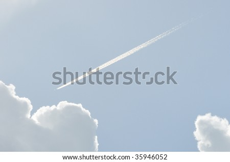 Vapor Trail and Clouds