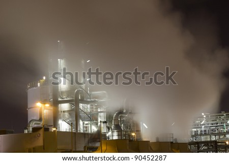 Vapour-emissions deriving from an oil-refinery plant