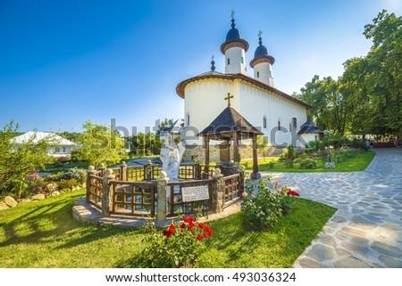 Varatec orthodox church monastery protected by unesco heritage, Varatec - Agapia town, Moldavia, Bucovina, Romania