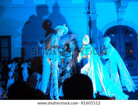 VARAZDIN, CROATIA- AUGUST 29: The largest street festival in the region known as Spancirfest. Artists from many countries performing on the streets of Varazdin,29 August, 2010 in Varazdin.