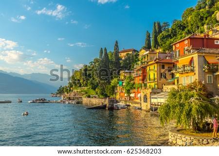 Varenna in summer, lake como, Italy