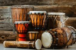 variation of ethnic drums