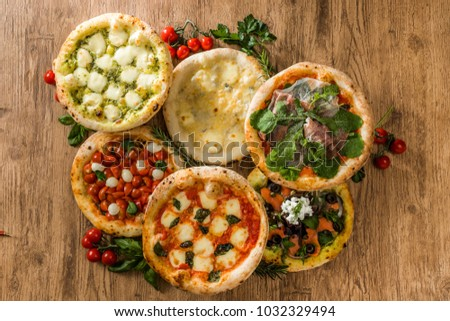Variations of pizza