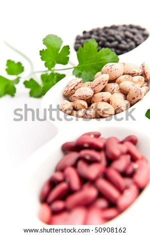 "Varieties of beans, focus of ""borlotti"""
