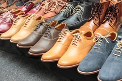 Variety Leather Shoes in the Shop