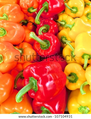 variety of colorful bell peppers