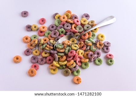 Variety of colorful cereals for breakfast. #1471282100