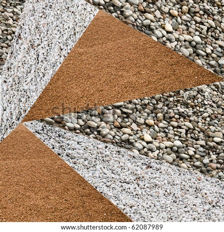 variety of crushed stone