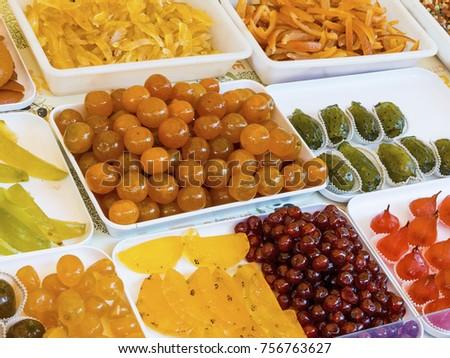 variety of fresh fruits #756763627
