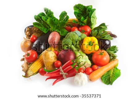 Variety of fresh vegetables