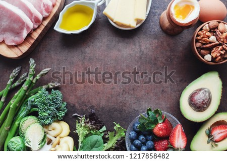 variety of ketogenic diet, low carb healthy food, world food day #1217858482