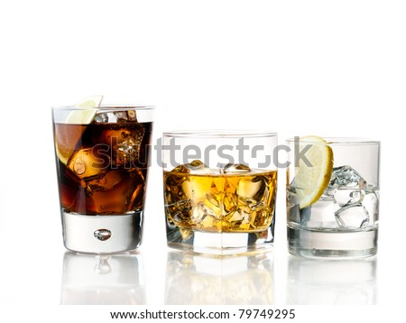 variety of refreshing and alcoholic cocktails