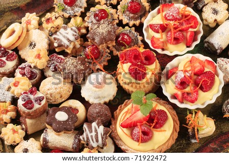 Variety of sweet festive cookies