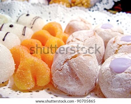 Variety of tasteful cakes, well presented - stock photo
