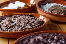 Variety of traditional cuban food