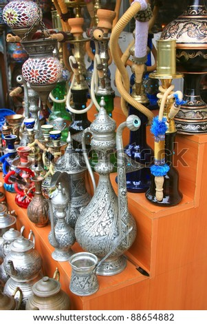 Variety of Turkish items on Sale in Grand Bazaar in Istanbul