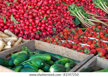 variety of vegetables at the farmer's market