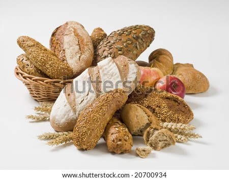 Variety of whole wheat bread #20700934