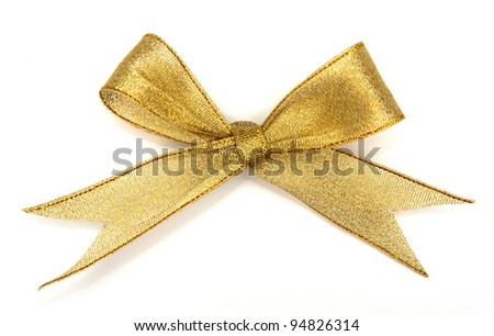 various a silk ribbon knot on white background