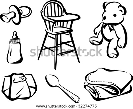 Various Baby Items Stock Photo 32274775 : Shutterstock