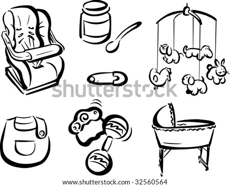 Various Baby Items 2 Stock Photo 32560564 : Shutterstock