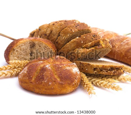 Various baking isolated on white background