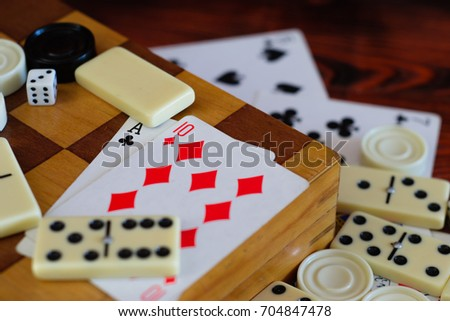various board games chess board ...